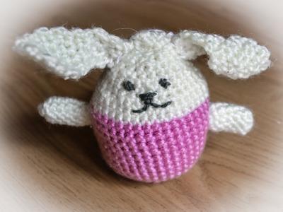 Jajko wielkanocne na szydełku. Easter egg bunny