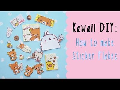 Kawaii DIY: How to make Sticker Flakes!