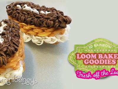Loom Eclairs: 3D Rainbow Loom Baked Goodies
