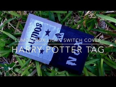 Lumos.Nox light switch cover and Harry Potter tag