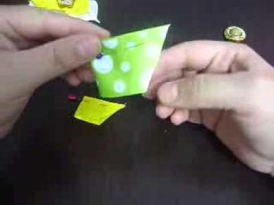 Manualidades y accesorios la hormiga  como hacer una flor en cintas HAIR ACCESSORIES video No 054