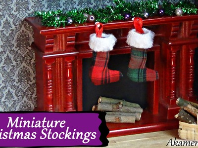 Miniature Christmas Stockings Tutorial