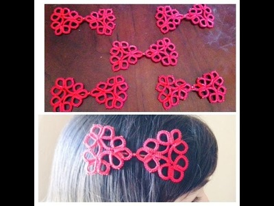 Needle Tatting Hair Bow