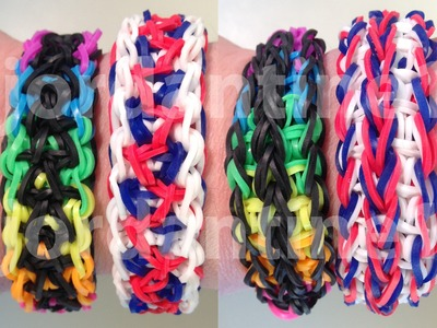 New Double Unity Bracelet - Reversible - Rainbow Loom, Wonder Loom, Crazy Loom