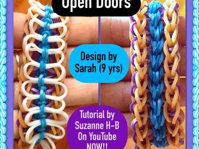 Open Doors bracelet tutorial (loom) rainbow loom bands