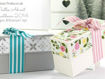 Pootles Advent Countdown  Festive or Floral Box Tutorial