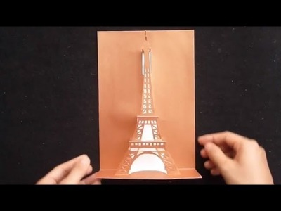 Pop Up Eiffel Tower Card Tutorial,  Origamic Architecture