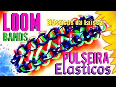 #Pulseiras de Elásticos Torcido Galês #Rainbow #LoomBands #Bracelet Pulsera VIDEO HD