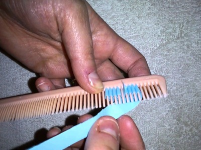 Quilling Flowers Using A Comb
