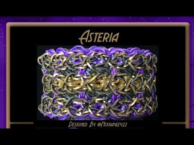Rainbow Loom Band Asteria Bracelet Tutorial.How To