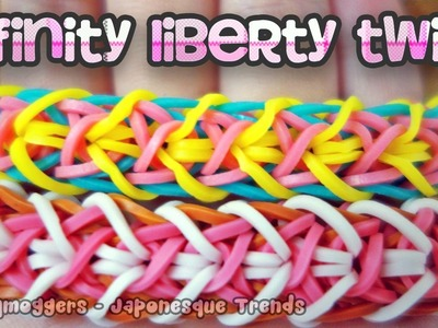 Rainbow Loom Bracelet Tutorial: Infinity Liberty - How To