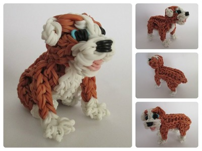 Rainbow Loom english bulldog - RUBBLE puppy Part 2.2 Loombicious