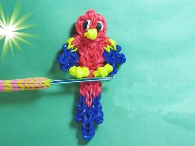 Rainbow Loom Francais Perroquet. Bracelet Elastique (animaux de loom bands)