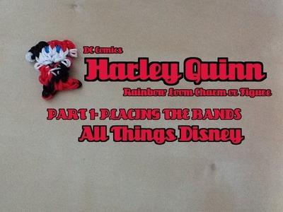 Rainbow Loom Harley Quinn Charm.Figure Part 1