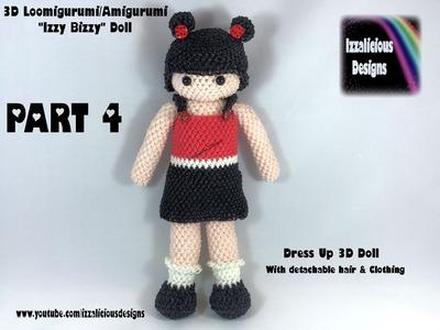 Rainbow Loom Loomigurumi Izzy Bizzy Dress Up Doll Part 4 - HAIR - hook only (loomless)