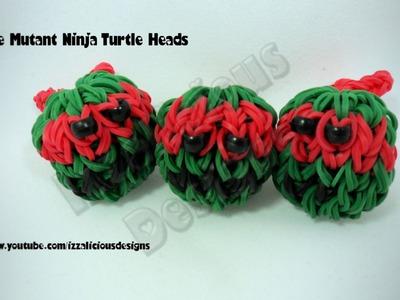 Rainbow Loom Teenage Mutant Ninja Head Charm Balls