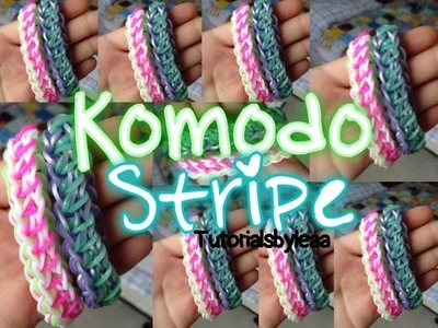 Rainbowloom KOMODO STRIPE bracelet tutorial  TutorialsByLea