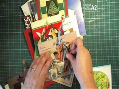 Recycling your old christmas cards using dies