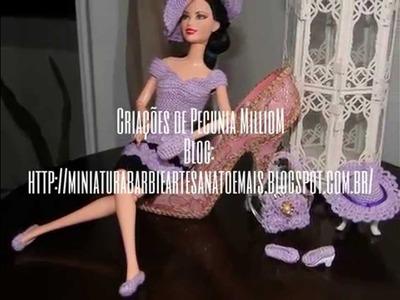 Roupa de Crochê Para Barbie