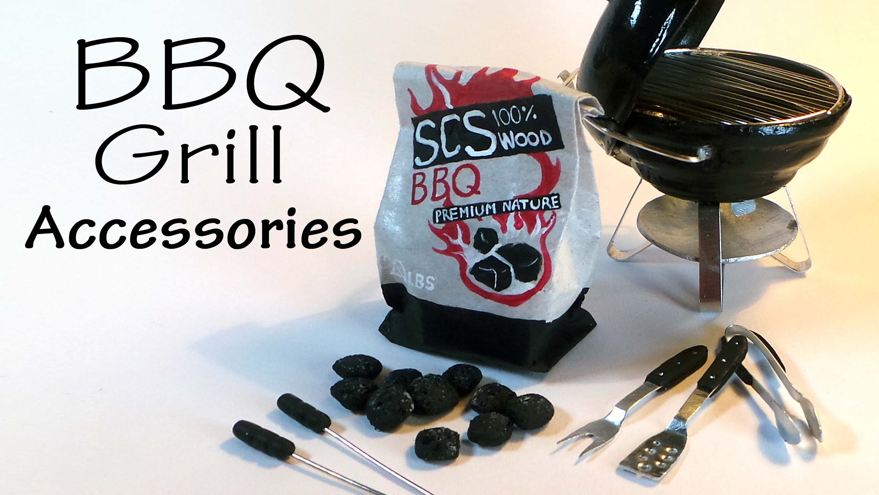 Simple Miniature BBQ Grill Accessory Tutorial