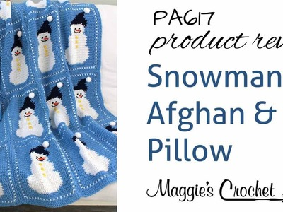 Snowman Afghan and Pillow Crochet Pattern Product Review PA617