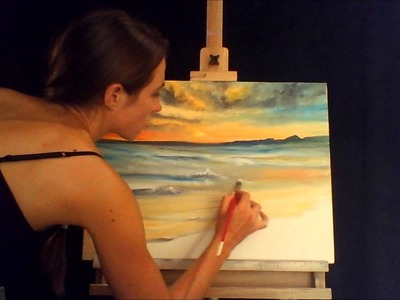 Sped Up Painting of an Ocean Sunset
