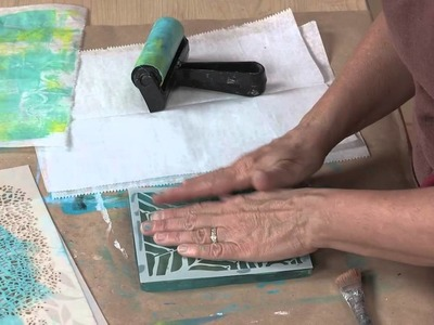 Stencil Girl Mixed Media Wall Hanging: Gelli Plate Demonstration
