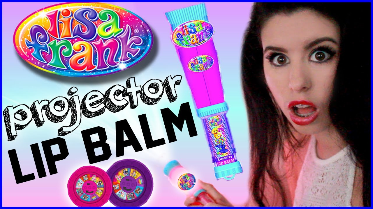Trying Projector Lip Balm!? | Lisa Frank Projector Lip Balm Review & Demo!