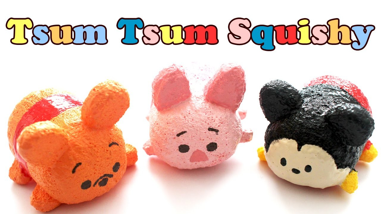 Homemade Squishy Collection It Z Just Cute : Tsum Tsum Pooh Homemade Squishy Tutorial, My Crafts and DIY Projects