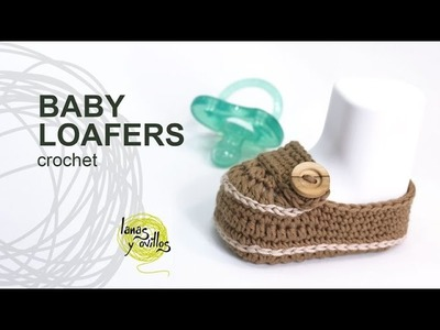 Tutorial Baby Loafers Moccasins Crochet in English