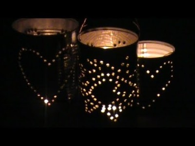 Up Cycle Your Cans Into Lanterns for Christmas