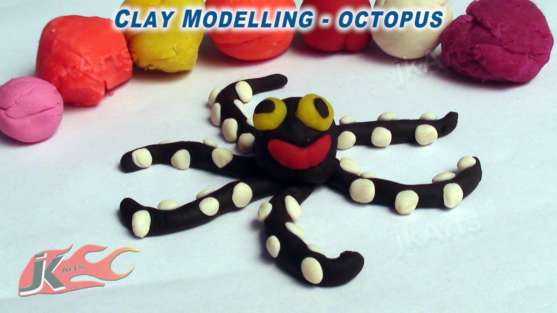 003 Clay Modelling - Learn to make Octopus - JK Easy Craft 003