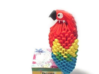 3D origami parrot tutorial