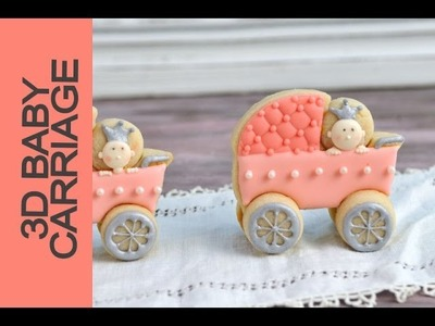 BABY SHOWER CARRIAGE COOKIES, DECORATING WITH ROYAL ICING