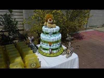 Baby Shower Party Ideas- Jungle or Safari themed shower - Part I- Card