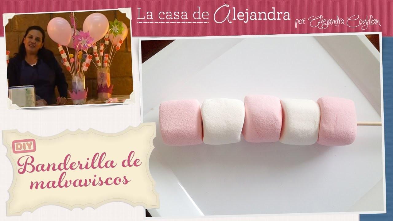 Banderillas de malvaviscos - DIY Skewered marshmallows