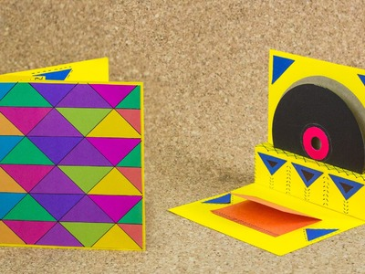 Carta Retro para  CD. Pop Up