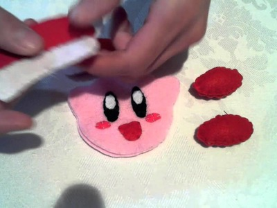 Christmas : How to make a Santa Hat Kirby Ornament Plush
