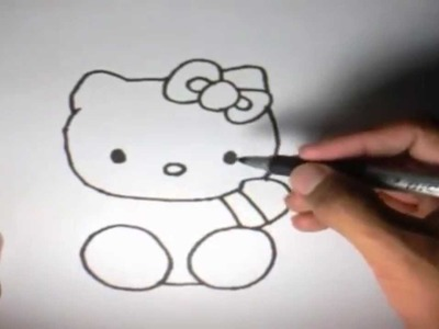 Como dibujar a Hello Kitty l How to draw Hello Kitty