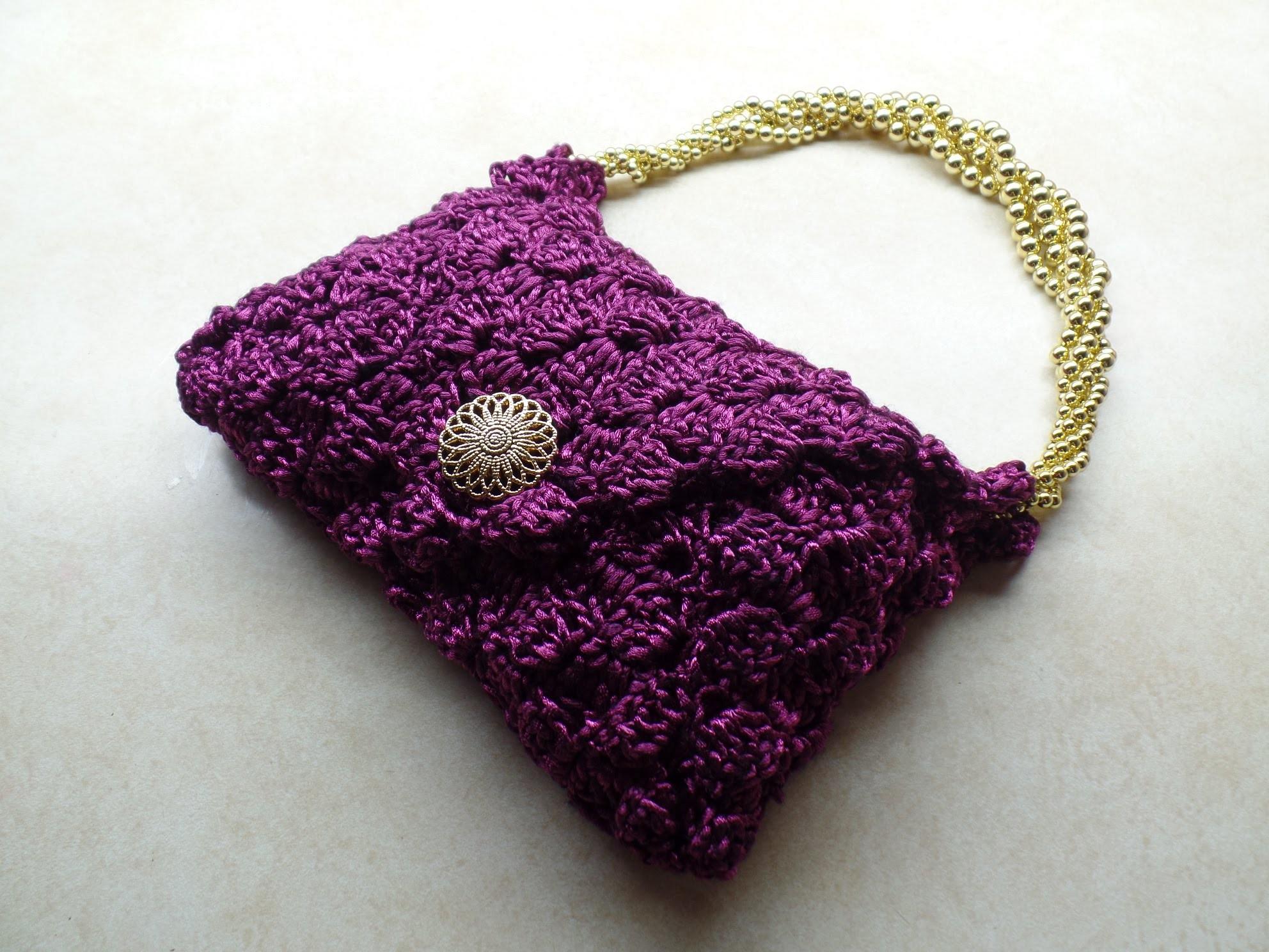 #Crochet Clover Cover Stitch Handbag Purse #TUTORIAL