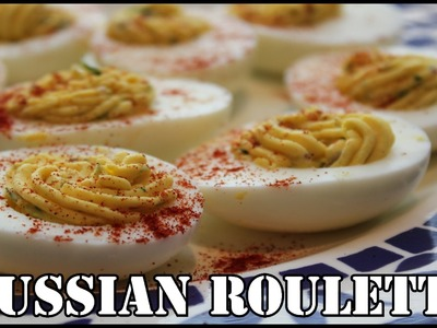 Deviled Egg Russian Roulette With Wasabi Oil