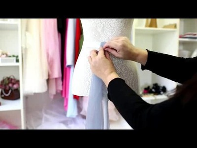 DIY Adult Tulle skirt for photoshoot