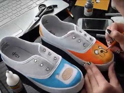 DIY Advenutre TIme Shoes