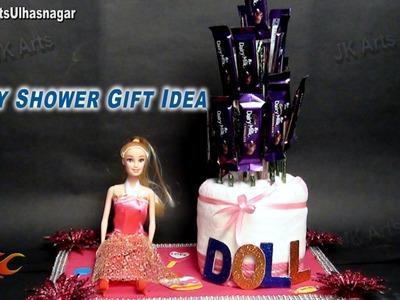 DIY Baby Shower Gift idea Barbie Doll | How to make | JK Art 656
