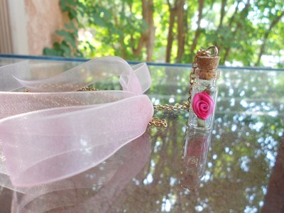 DIY Beauty & The Beast Inspired Rose in a Bottle Necklace