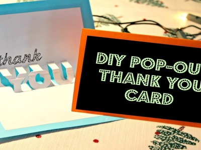 DIY: Easy Pop-out Thank you Card