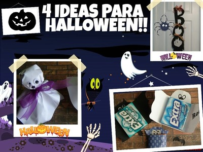 DIY Ideas Para Halloween (Decora tu Cuarto y Regal
