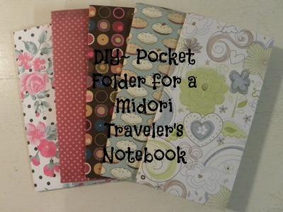 DIY Pocket Folder for Midori Traveler's Notebook