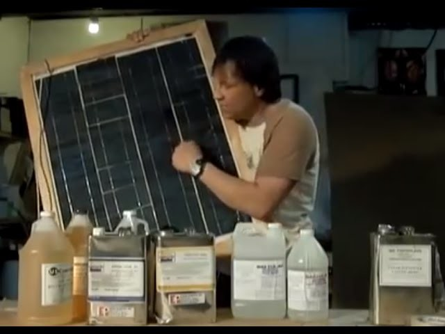 "DIY Solar Panel $1 A WATT DIY part 3 Encapsulation Resin Overview Wood Frame ""Top DIY Solar Panels"""
