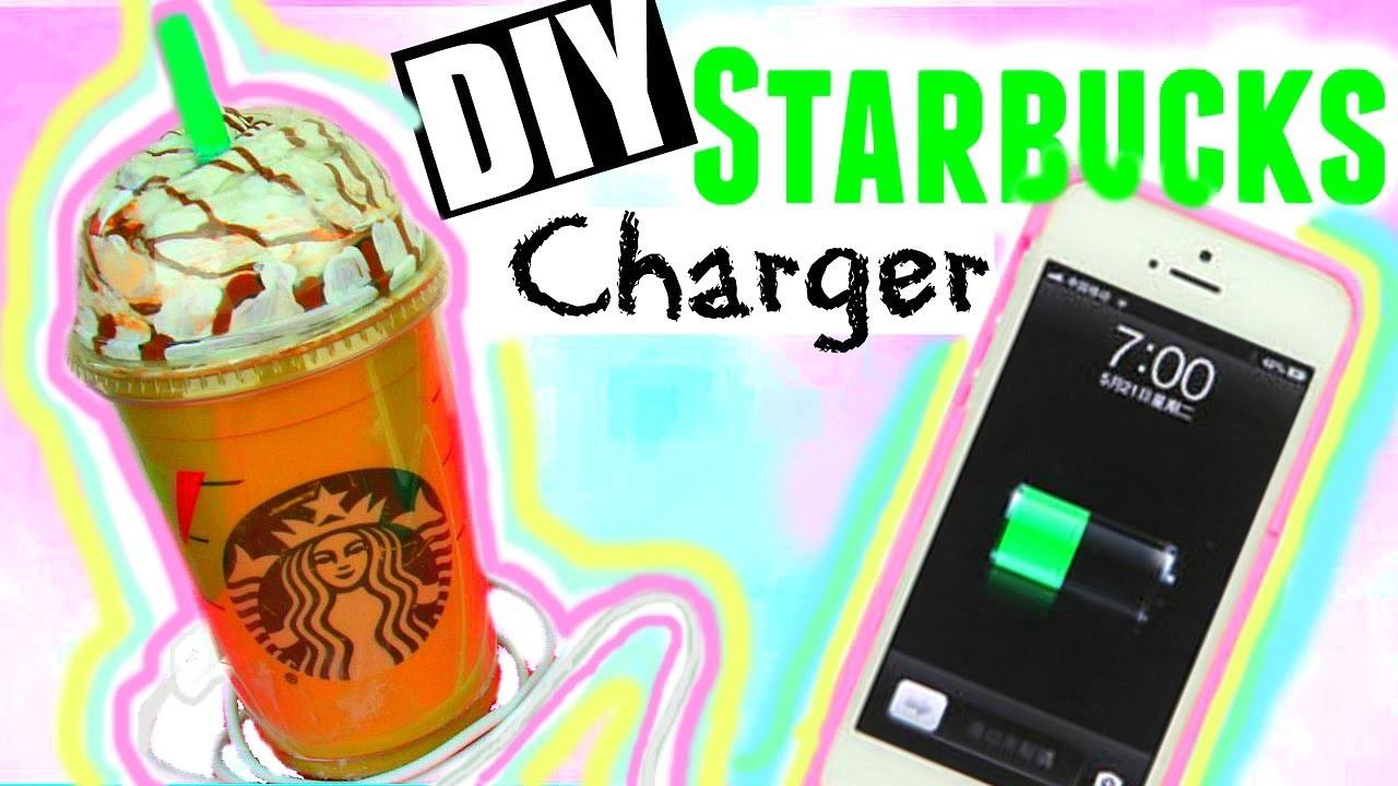 DIY STARBUCKS CHARGER! Tumblr Inspired Room Decor ♡